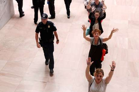 Susan Sarandon foi detida com outras ativistas
