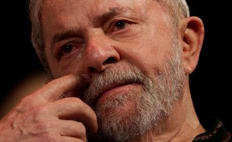 Ex-presidente Luiz Inácio Lula da Silva, durante evento com intelectuais e artistas no Rio de Janeiro, no início do ano