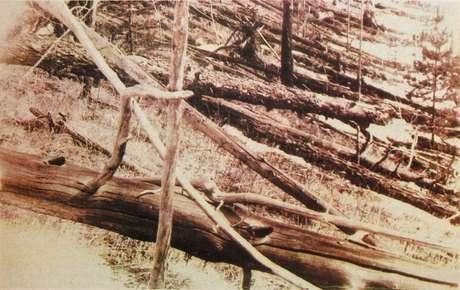 Foto de uma expedição feita em 1929 na região siberiana onde houve o impacto