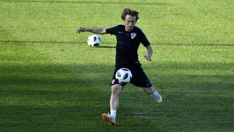 Modric durante treino da Croácia - FOTO: Divulgação/Twitter Croácia