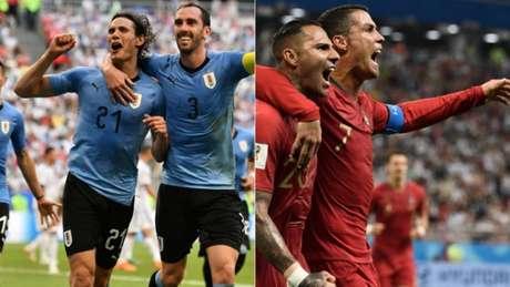Uruguai e Portugal se enfrentam, neste sábado, às 15h, em Sochi, pelas oitavas de final da Copa do Mundo