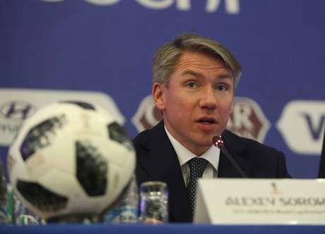 Alexey Sorokin, CEO da Copa, diz que todos os atletas do Mundial estão sendo testados e que não é surpresa a Rússia ter passado de fase