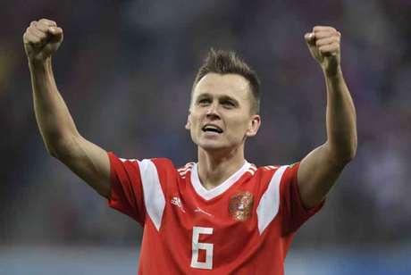 Cheryshev tem três gols marcados nesta Copa do Mundo (Foto  GABRIEL BOUYS    AFP 534fc346136be