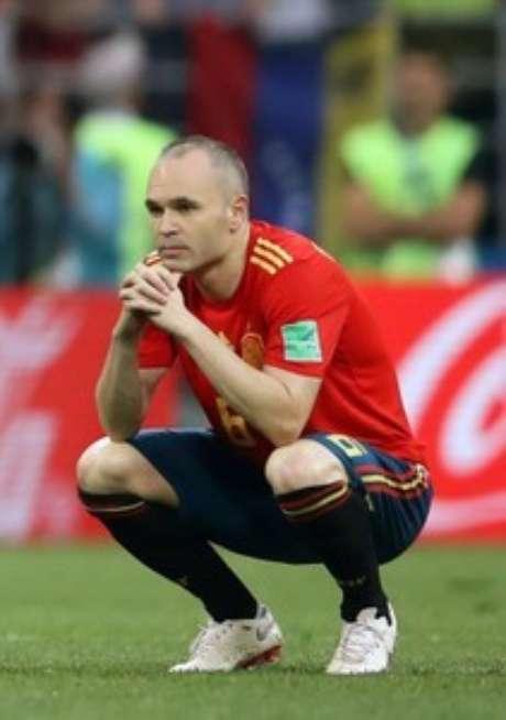 Iniesta lamenta derrota da Espanha  1/7/2018    REUTERS/Carl Recine