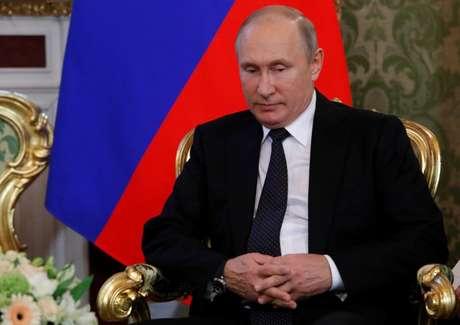 Putin durante reunião em Moscou  22/6/2018   REUTERS/Sergei Karpukhin