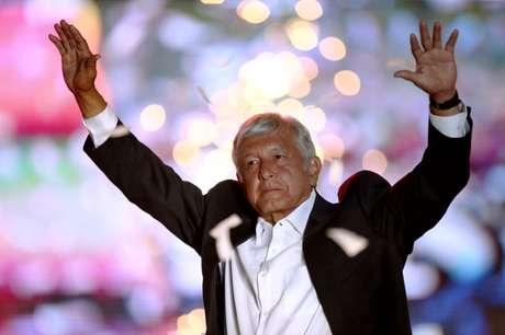 Andrés Manuel López Obrador durante evento na Cidade do México no dia 27/06/2018