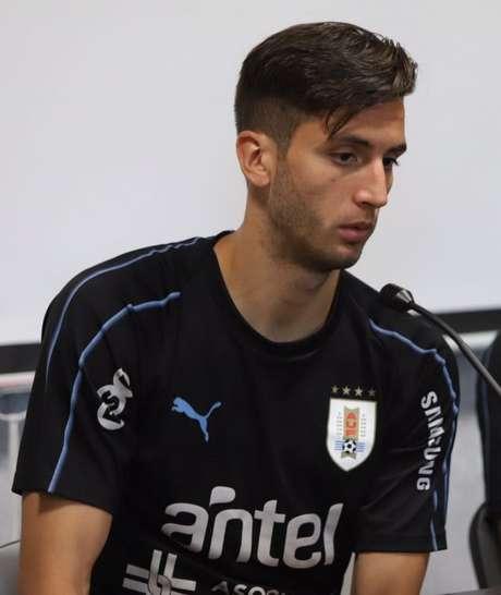 O meio-campista Rodrigo Bentancur deu declaração otimista sobre Cavani jogar nesta sexta-feira (Divulgação)