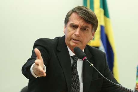 Bolsonaro durante sessão