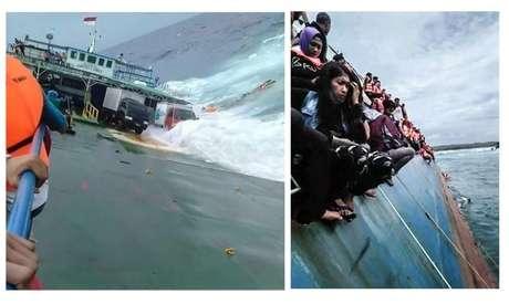 Fotos de naufrágio de balsa na Indonésia 03/07/2018 Antara Foto/Divulgação/RelawanBNPB/via Reuters