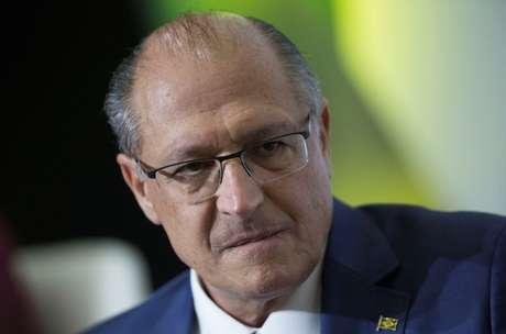 Geraldo Alckmin, pré-candidato à Presidência da República, durante debate em Brasília