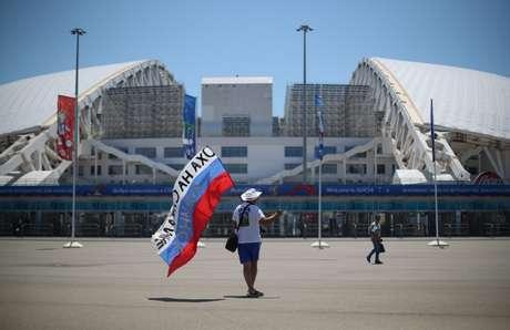 Visão geral do estádio olímpico Fisht, em Sochi, na Rússia 12/06/2018  REUTERS/Hannah Mckay