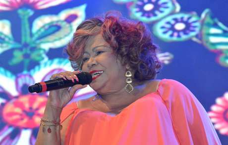 A cantora Alcione em show na Virada Cultural de São Paulo, em 2016