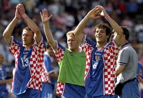 Croatas fizeram a melhor Copa em 1998, quando eliminaram a Alemanha nas quartas de final