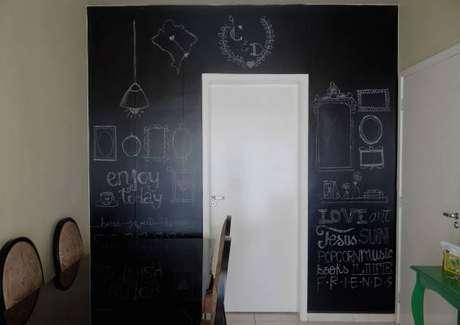 paredes decoradas com tinta lousa