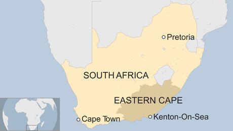 A Província de Eastern Cape, onde fica a cidade de Kenton-on-Sea