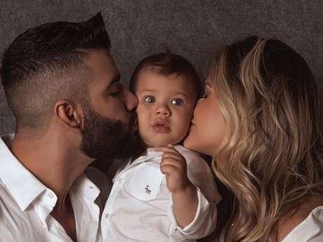 93519c0c30afc Andressa Suita e Gusttavo Lima são pais do pequeno Gabriel, que completou 1  ano em