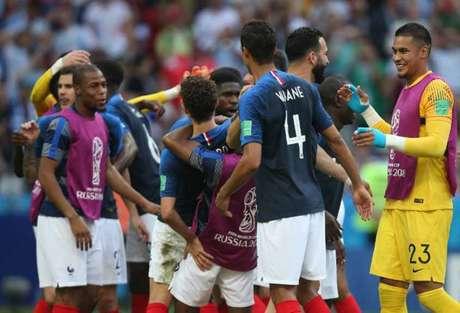 França passou pela Argentina para se classificar às quartas de final (Foto: ROMAN KRUCHININ / AFP)