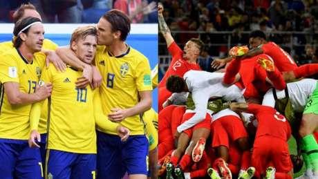 Suécia e Inglaterra se enfrentam às 11h deste sábado na decisão das quartas de final da Copa do Mundo