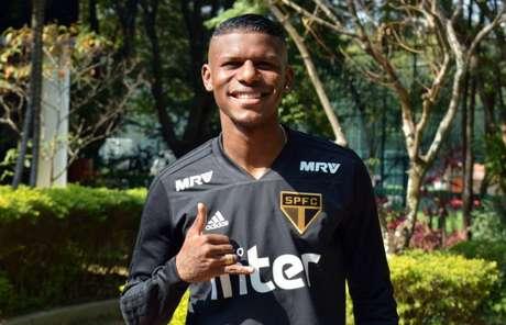 Arboleda foi o entrevistado do São Paulo nesta quinta-feira (Foto: Érico Leonan/São PauloFC.net)