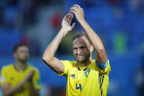 Granqvist é o batedor de pênaltis da Suécia e já fez dois gols na Copa
