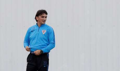 Técnico da Croácia, Zlatko Dalic, durante treino da equipe em Sochi 06/07/2018 REUTERS/Henry Romero