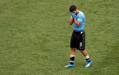 Luis Suárez lamenta a desclassificação de seu Uruguai