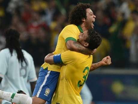 Veteranos, Marcelo e Thiago Silva são os únicos remanescentes da campanha olímpica de 2008 (Foto: Reprodução)
