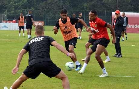 São Paulo encerrou período de treinos no CT de Cotia(Érico Leonan/saopaulofc.net)