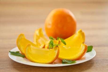 Gelatina na laranja