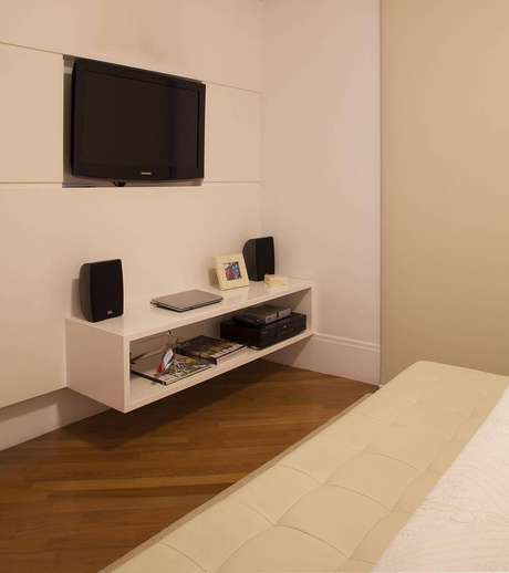 15. Os nichos para quarto podem se transformar em um rack, como nesse exemplo