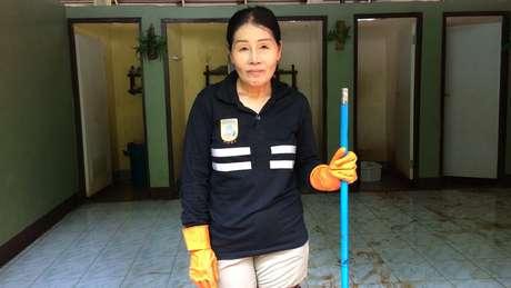A agricultora Varee Srichai quer ser voluntária até que o resgate do grupo termine