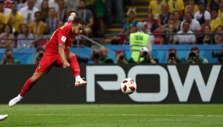 Eden Hazard, da Bélgica, durante partida contra o Brasil na Copa do Mundo 06/07/2018 REUTERS/Sergio Perez