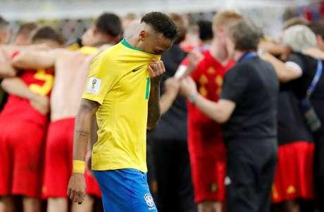 Neymar lamenta derrota para a Bélgica