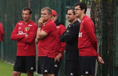 Comissão técnica do São Paulo tem cobrado bastante dos atletas durante os treinamentos (Rubens Chiri/saopaulofc.net)