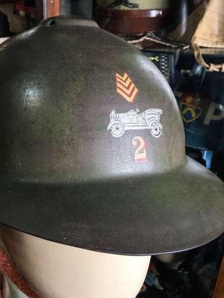 Capacete usado por soldados paulistas durante Revolução de 1932