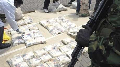 Reforço no combate às drogas no leste da África empurrou o tráfico para o sul do continente