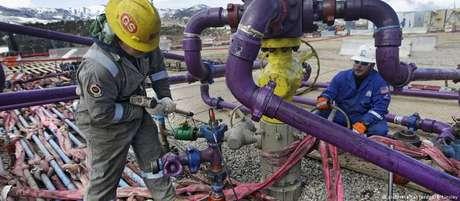 Extração de gás por fraturamento hidráulico no Colorado