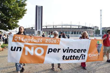 Manifestação em Turim contra Jogos Olímpicos