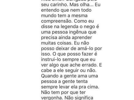 Anitta em comentário sobre Nego do Borel no Instagram