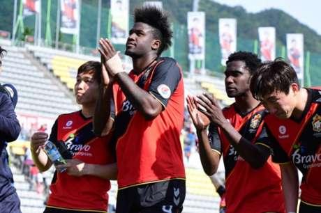 Marcão marcou dez gols em 13 partidas pelo Gyeongnam nesta temporada na Coreia do Sul (Foto: Divulgação)