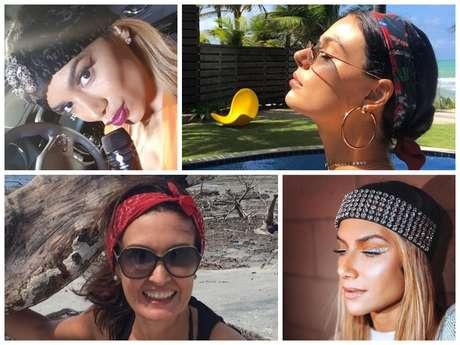 Famosas apostam em faixas de cabelo (Fotos: Instagram/Reprodução)