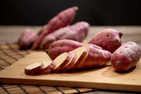 Batata-doce fatiada