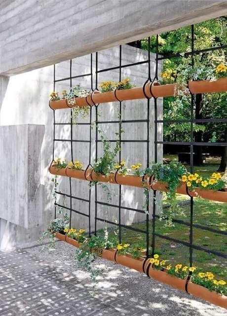 25. Um jardim vertical também pode se transforma em um lindos modelos de divisórias