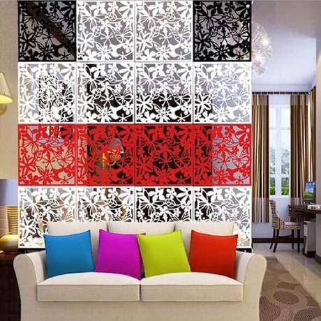 1. Modelo colorido de divisórias para sala