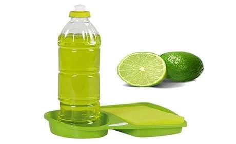 7- Aproveite as embalagens para colocar os seus produtos de limpeza caseiro.