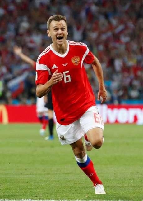Meia atacante Denis Cheryshev foi um dos destaques da seleção russa no Mundial