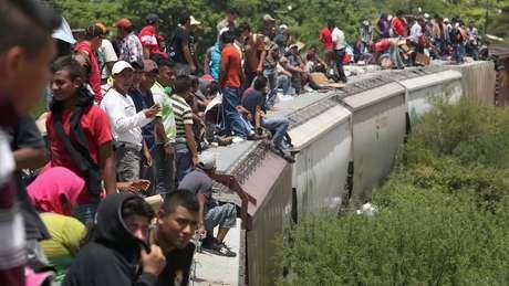 México é rota de imigrantes centro-americanos que tentam viajar aos Estados Unidos.