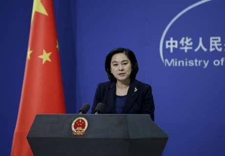 Porta-voz do Ministério das Relações Exteriores chinês, Hua Chunying, durante coletiva de imprensa em Pequim 06/01/2016 REUTERS/Jason Lee