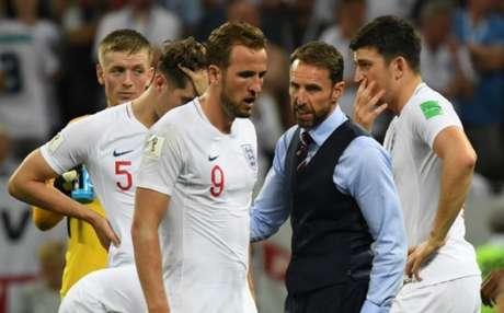 Southgate saiu derrotado, mas feliz com a performance de seu time na Copa da Rússia e que os garotos não decepcionaram, mesmo perdendo a chance de jogar a final do Mundial (AFP)
