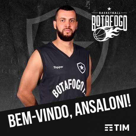 Ralfi Ansaloni é o novo reforço do Botafogo (Reprodução/Twitter)
